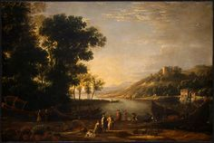 Landscape with Merchants by Claude Lorrain, 1630