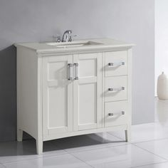 Gallery One Simpli Home Winston in Single Bathroom Vanity Update your bathroom with the Simpli Home Winston in