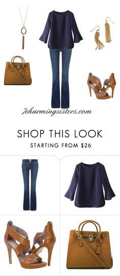 """""""The Classy Hippie"""" by paula-charming on Polyvore featuring Hudson Jeans, WithChic and MICHAEL Michael Kors"""