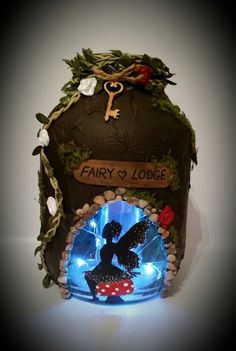 Fairy Lodge.....handmade fairy lantern....perfect home for a tired fairy £18.99 plus postage  x