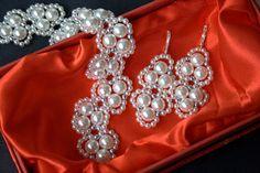 Pearl Bracelet Set, Pearl Earrings, Pearl Drop Earrings, Annabel Silver Pearl Bracelet Set, Bridal Earrings, Vintage Glam Bride Jewelry Gift Pearl Drop Earrings, Bridal Earrings, Pearl Bracelet, Bracelet Set, Diamond Earrings, Jewelry Gifts, Jewelry Accessories, Handmade Jewelry, Unique Jewelry
