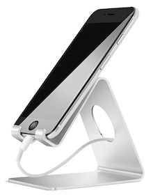 Cell Phone Stand, Lamicall Phone Stand : Cradle Dock Holder Compatible with All Android Smartphone iPhone 11 Pro Xs Xs Max Xr X 8 7 6 Plus 5 Charging, Universal Accessories Desk - Silver Desk Phone Holder, Phone Stand For Desk, Iphone Holder, Cell Phone Stand, Iphone S6 Plus, Apple Iphone, Iphone Stand, Iphone Phone, Silver Accessories