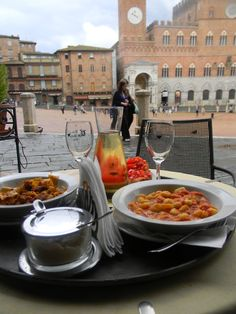 Lunch with a view, Siena.