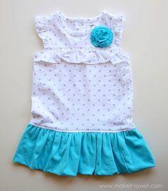 FREE Tutorial:  Refashion A Onesie Into A Cute Bubble Dress!