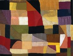 Baby quilt made by SONIA DELAUNAY   in 1911 for her son Charles.  It is in Paris in Centre Pompidou.