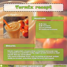 Egy finom mandarinos turmix receptje #turmix #recept Cantaloupe, Smoothies, Fruit, Drinks, Breakfast, Healthy, Minden, Food, Decor