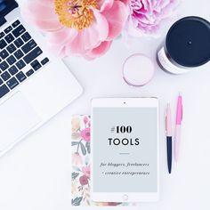 Top 100 tools + resources for bloggers, freelancers + creative entrepreneurs  #DREAMCREATEDO