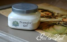 How to transfer images onto prepared surfaces with Artisan Enhancements Transfer Gel.  Step by step tutorial by Girl in Pink.