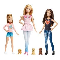 If you can't wait for the new 2015 dolls to pop up in a store enar you, Entertainment Earth has started taking preoerders for some of the new dolls. Check them out below. Barbie and Her Sisters The Great Puppy Adventure Doll Set Barbie Malibu Shops Barbie Glitter Hair 2015 Barbie Saddle 'n Ride