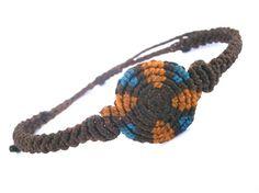 Spiral macrame bracelet/Men bracelet/Surf bracelet/Macrame bracelet/Bohemian jewelry/Micromacrame/Unisex bracelet