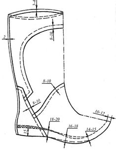 Slip On Boots, Men's Boots, Cad Cam, Spring Boots, Modelista, Shoe Pattern, Leather Projects, Pattern Drafting, Doll Shoes