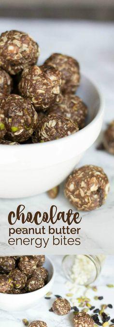 Chocolate Peanut Butter Energy Bites Recipe!