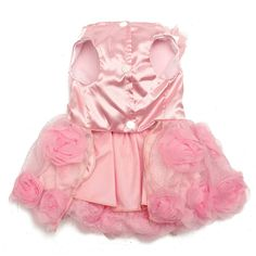 cane gatto domestico della principessa abito da sposa 3D Rosa & perle abbigliamento gonna cucciolo