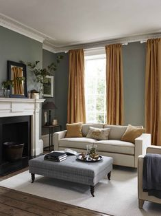 81 Classic Traditional Living Room Decor Ideas You Can Apply . - 81 Classic Traditional Living Room Decor Ideas You Can Apply … – living roo - Living Room Grey, Home Living Room, Living Room Designs, Classic Living Room, Living Room Yellow Curtains, Living Room Decor Uk, Apartment Living, Grey Living Room Furniture, Living Spaces