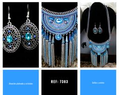 Aleación y cristales azules Dream Catcher, Home Decor, Hanging Necklaces, Crystals, Stud Earrings, Blue Nails, Accessories, Dreamcatchers, Decoration Home