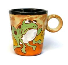Mug Frog Ceramics and pottery ceramic cup by MMceramicdesign