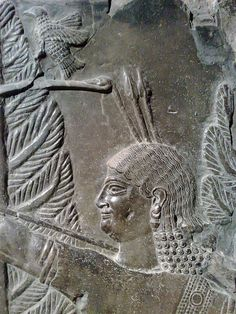 Hunting Scene.    Assyrian about 710-705 BCE, From Khorsabad, Royal Palace.