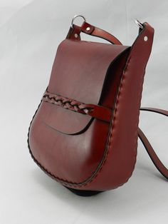 Handmade Latigo Shoulder Bag Hand-dyed by KawValleyLeather