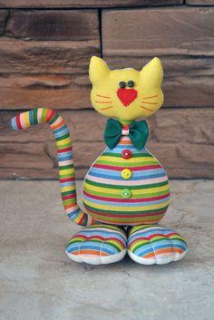 Rainbow kitten. by Neonila1 on Etsy