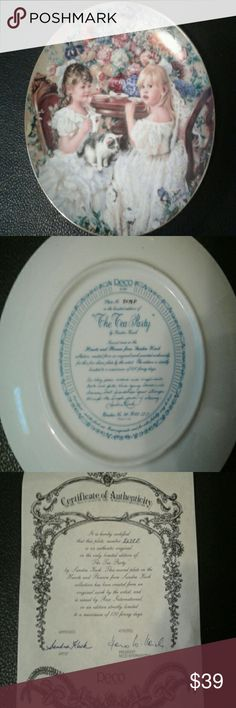 "Reco fine porcelain collector's plate Reco fine porcelain collector's plate,  ""The Tea party"" trimmed in 23karat good. Plate no. 8078P Reco  Other"