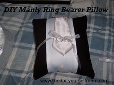 DIY Wedding Ring Bearer Pillow DIY Manly Ring Bearer Pillow: Handcrafted Ring Pillow in the Style of the Groomsmen Suits