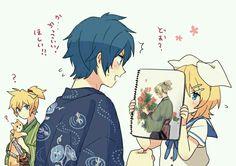 Len, Kaito and Rin! Len Y Rin, Kagamine Rin And Len, Hatsune Miku, Kaito Shion, Drawing Body Poses, Anime Life, Cute Anime Couples, Kawaii Anime, Cute Art