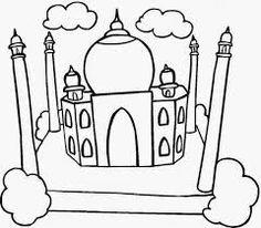 Taj Mahal Coloring Page Inspirational Beautiful View Of Taj Mahal Coloring Page Netart Stitch Coloring Pages, Turtle Coloring Pages, Mermaid Coloring Pages, Coloring Pages For Kids, Eid Greeting Cards, Eid Cards, Happy Eid Wishes, Eid Greetings, Happy Eid Mubarak