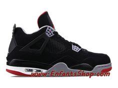 innovative design 9a215 c2b7b Air Jordan 4 Retro Chaussures Basket Jordan Pas Cher Pour Homme Bred  308497-089