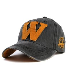 Letter W Cotton Embroidery Baseball Hats Snapback For Men  Baseball Hats Outfit Shop Product Website Store Online