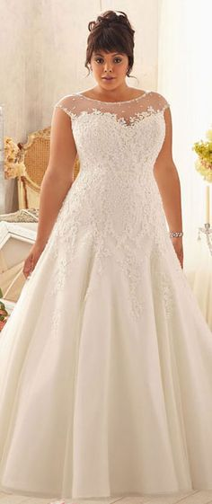 Custom Made Yours www.yalandesign.com plus size wedding dress