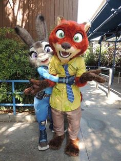 Judy and Nick from Zootopia