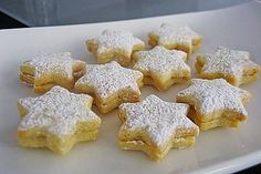 Orangensterne Orange stars, a refined recipe in the category biscuits & cookies. Star Cookies, Biscuit Cookies, Cake Cookies, Baking Recipes, Cookie Recipes, Dessert Recipes, Xmas Food, Christmas Baking, Christmas Recipes