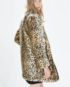 Image 4 of ANIMAL PRINT COAT from Zara