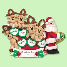 The Reindeer Have Paid Their Dues And Now It S Santas Turn To Pull Sleigh This Personalized Ornament Is Great For