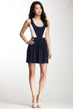 BB Dakota Ripley Colorblock Cutout Dress on HauteLook