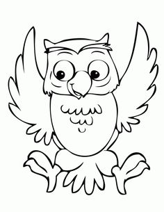 happy owl coloring page
