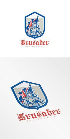 The Crusader English Brewery Logo by patrimonio on @creativemarket