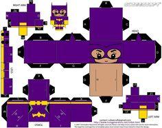 Lego Batgirl Cubeecraft Papercraft from The Lego Batman Movie