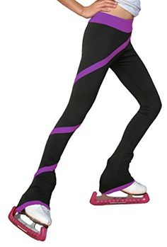 Chloe Noel Figure Skating Polar Fleece Spiral Pants by Polartec P06P Purple Child Large ** To view further for this item, visit the image link. This is an Amazon Affiliate links.