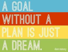 Dream is very good but make it a goal with a plan!