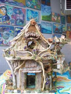 Beautiful Art: Another Fairy House Creation displayed in our new Gallery!