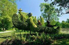 Esculturas vegetales increíbles en Jardín Botánico de Montreal (4)