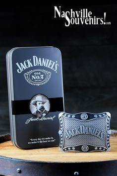 Jack Daniels Old Belt Buckle - Scrolled Design Jack Daniels Decor, Jack Daniels Whiskey, Jack Daniels Wallpaper, Jack Daniel's Tennessee Whiskey, Tin Boxes, Get One, Whisky, Belt Buckles, Coca Cola
