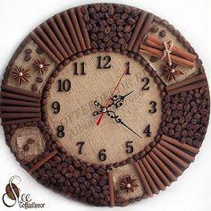 Часы из кофейных зёрен