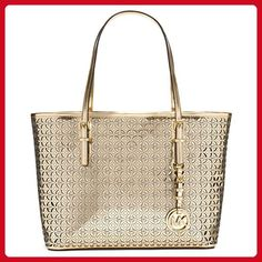 8d5783b2fd6c Michael Kors Womens Flower Perforated Small Travel Tote Gold Handbag - Top  handle bags ( Amazon Partner-Link). MY HANDBAG