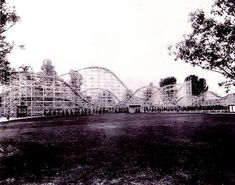 Old Big Dipper coaster at Portland's Jantzen Beach amusement park, originally built in the mid-1920s, torn down in 1970