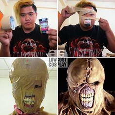 """Just in time for Halloween, Thai cosplay enthusiast Anucha """"Cha"""" Saengchart, aka the guy behind Lowcost Cosplay, strikes again. Cheap Cosplay, Funny Cosplay, Bad Cosplay, Resident Evil, Stupid Funny Memes, Funny Posts, Dankest Memes, Jokes, Dino Crisis"""