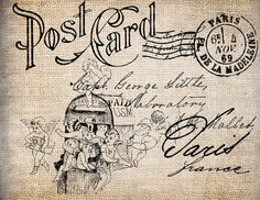 Wouldn't you love to receive a post card like this? I would.