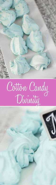 these cotton candy flavored divinity is not only pretty and delicious but makes the perfect will o the wisps from Disney brave.