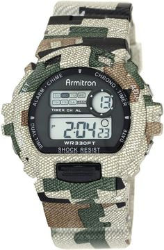 Armitron Mens Camouflage Chronograph Digital Sport Watch 40/8216MILJ